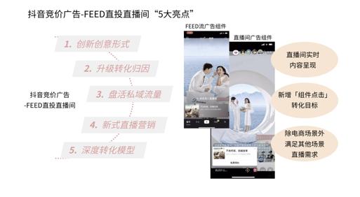 抖音竞价-FEED直投直播间增加广告组件